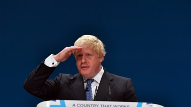 UK Foreign Secretary Boris Johnson.