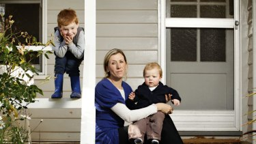 Emily Lloyd, with her children Lachlan, 3, (left) and Henry, 1, found that being accepted as a patient by a medical practice in Bendigo was a matter of who you know.