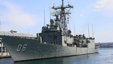 The alleged offences took place aboard HMAS Newcastle.