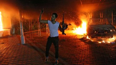Bloodshed: A rebel fighter in Tripoli.