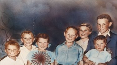 The clan ... Ivan Milat aged about 10 (centre) with Michael, Boris, Shirley, Mary, Alexander and Walter (on lap).