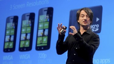 Windows Phone 8 ... Joe Belfiore, corporate vice president of Microsoft, introduces mobile operating system in San Francisco, California.
