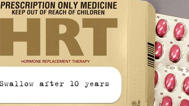 """Bitter little pill ... the panic of HRT is """"way overblown"""" according to Mansberg."""
