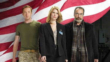 Damian Lewis, Claire Danes and Mandy Patinkin in <i>Homeland</i>.