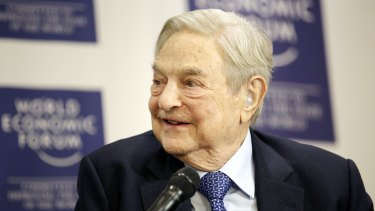 George Soros, billionaire and founder of Soros Fund Management, at the World Economic Forum in Davos, Switzerland, in January, 2016.