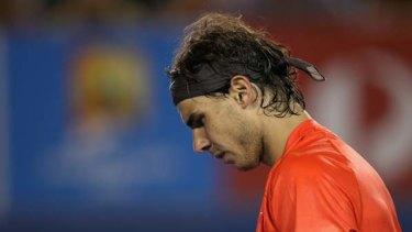 Sad exit ... Rafael Nadal.