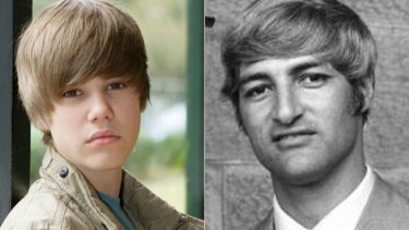 Blast from the past ... Bob Katter with his 'Bieber' cut.