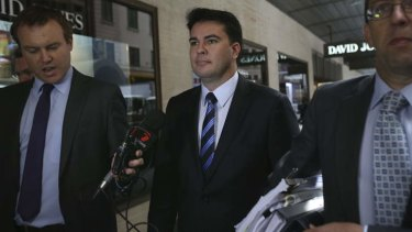 Darren Webber enters ICAC to give evidence on Monday.