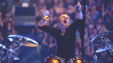 Enter soundman: Drummer Lars Ulrich goes tubthumping in the round at larger than life size in Metallica's concert film-meets-urban fantasy.