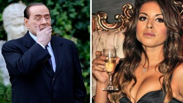 Silvio Berlusconi and Moroccan Karima El-Mahroug, nicknamed Ruby the Heartstealer.