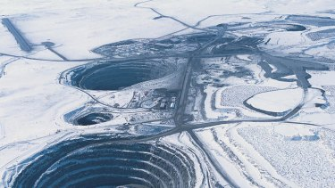 Ekati diamond mine in Canada.