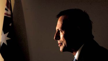 Federal Opposition Leader Tony Abbott at the Commonwealth offices in Sydney yesterday. <i>Picture: Sahlan Hayes</i>