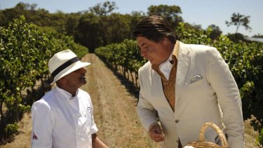 Kumar Pereira with Matt Preston.