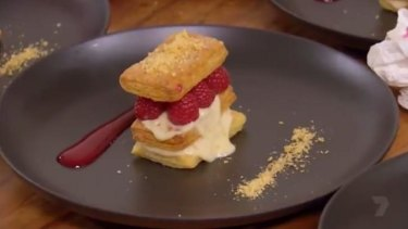 Camilla's mille feuille was one of the highest-scoring dishes.
