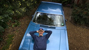 Henry Alger, 79, with his Valiant Charger. Should he face similar restrictions to P-platers?