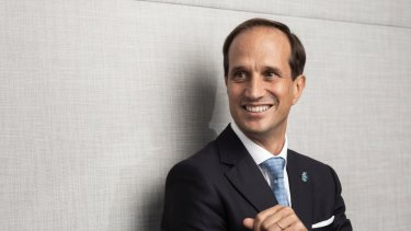 New AMP chief executive Francesco de Ferrari is a glass half-full guy.