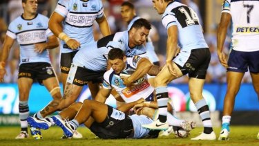 Bulldogs-bound?Andrew Fifita may have played his last game for the Sharks.