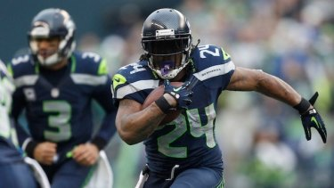 Beast mode: Seattle running back Marshawn Lynch.