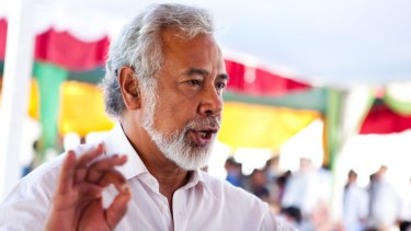 Xanana Gusmao, former president of East Timor who was elected into power in 1998.