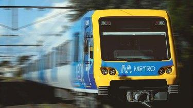A Metro train.
