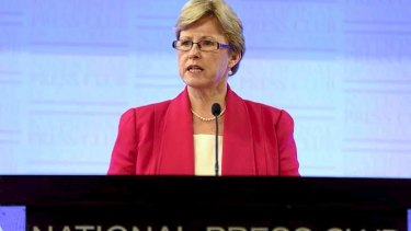 Greens Leader Senator Christine Milne has taken aim at the Abbott government's environment and asylum seeker policies in an address to the National Press Club.
