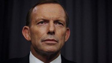 Confident: Prime Minister Tony Abbott.