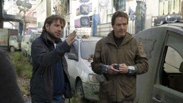 Director Gareth Edwards with star Bryan Cranston.