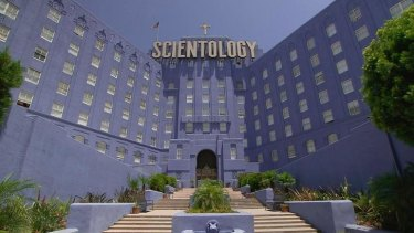 An image from Alex Gibney's documentary <i>Going Clear: Scientology and the Prison of Belief</i>.