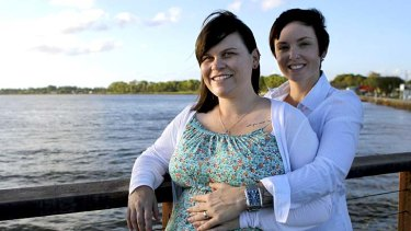 Gay couple Shannon and Suzanne Michaels are planning to register their civil union as soon as they can.