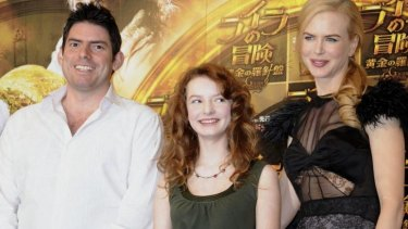 American writer-director Chris Weitz, left, has been signed on to write <i>Rogue One</i>. He is photographed with actress Nicole Kidman and British actress Dakota Blue.