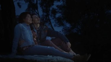 The video shows a couple from Canberra enjoying the view from Mount Ainslie