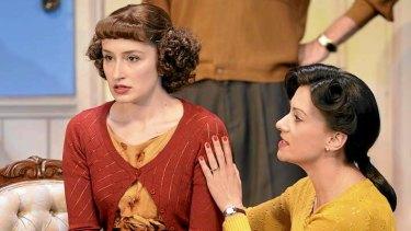 Elizabeth Nabben and Libby Munro in <i>A Murder is Announced</i>.
