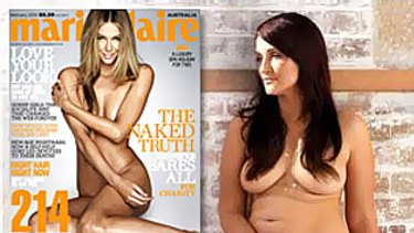 Bianca Dye, who posed naked for Madison magazine, has claimed Jennifer Hawkins is no natural role model.