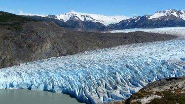 A glacier in Chile.