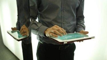 Apple shares fell despite iPad sales hitting new highs.