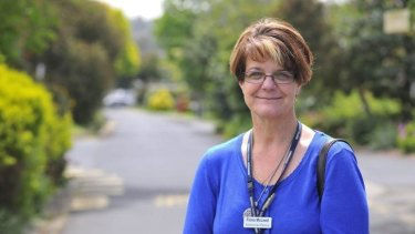Keep smiling: Palliative care nurse Fiona McLeod says a sense of humour goes a long way in her line of work.