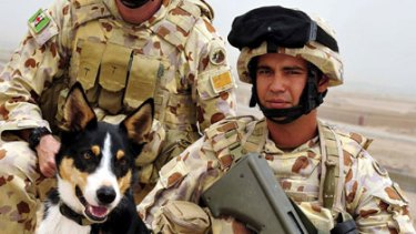 Casualties ... Sapper Darren Smith and Australian bomb detector dog Herbie were killed on June 7 at Tarin Kowt, Afghanistan.
