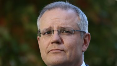 Treasurer Scott Morrison addresses the media during a doorstop interview ahead of Budget day.