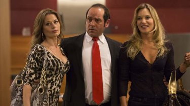 In the gang: <i>Fat Tony & Co.</i> From left, Madeleine West as Danielle McGuire, Robert Mammone as Tony Mokbel and Samantha Tolj as Renae Mokbel.