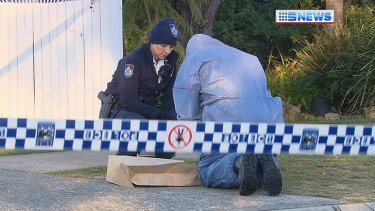 Police at the scene of a shooting in Marsden.