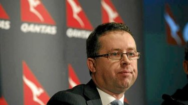 Qantas chief executive Alan Joyce, who has been pushing for financial assistance from the Abbott government.