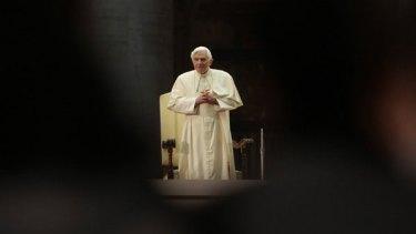 Pope Benedict XVI at the Vatican last week.
