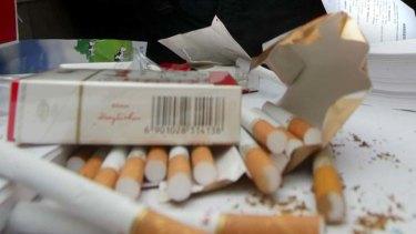 Ad space ... cigarette companies are branding primary schools in China.