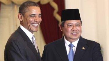 Litmus test ... Mr Obama and Susilo Bambang Yudhoyono.
