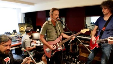 The band rehearses in Sydney earlier this year.