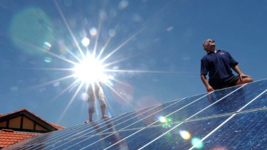 Here comes the sun ... a pay-as-you-go solar panel system is already popular in the US.