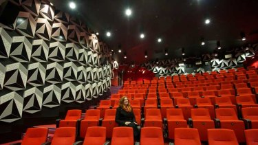 RMIT vice-chancellor Margaret Gardner sits in the theatre.
