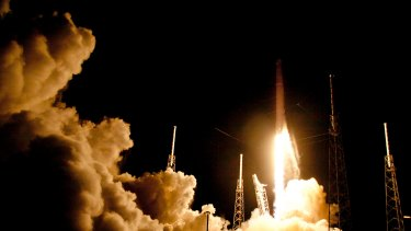 A SpaceX rocket launches from Cape Canaveral last year.