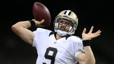 Ageing quarterback: Drew Brees and the New Orleans Saints will struggle this season.