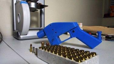 A Liberator made on a 3D printer.